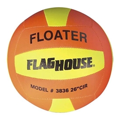 "FlagHouse Oversized Superlight Floater Volleyball - 10"" dia"