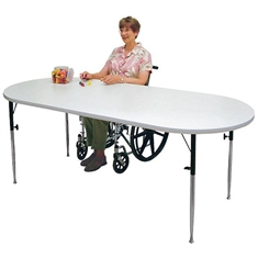Oval Extension Work and Activity Table
