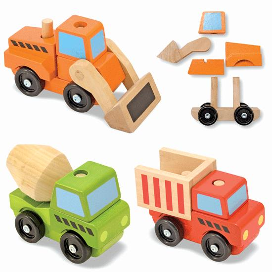 Stackable Puzzles - Construction Vehicles