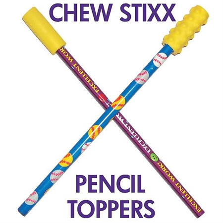 Chew Stixx Pencil Toppers - Textures