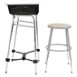 "Complete Standing Desk Kit with stool 1"" dia. - Thumbnail 1"