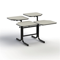 Wheel Chair Accessible Table- Double Pedestal