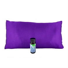 Sleepy Time Pillow - Purple Satin