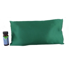 Sleepy Time Pillow - Hunter Green Satin