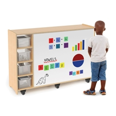 Magnetic Write & Wipe Mobile Cabinet