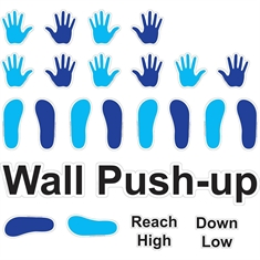 Fit & Fun™  Wall Push-Up™ Super Stickers™
