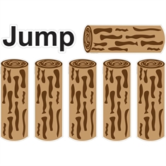 Fit & Fun™ Jump Logs™ Super Stickers™