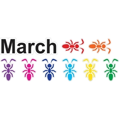 Fit & Fun™ March Ants™ Super Stickers™
