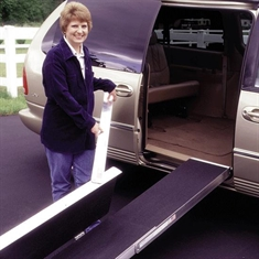 "EZ - Access Folding Ramp - 40"" x 16"" x 7"""