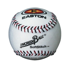 Easton® SoftStitch™ Synthetic Leather Cover White Baseball - 9""
