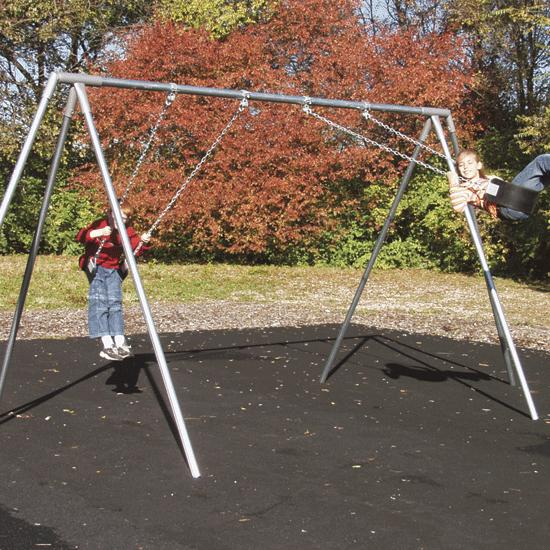 Outdoor Swing Set Tri Leg Frame 2 Seats Flaghouse