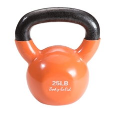 Body Solid® Vinyl Coated Colored Kettlebells 25lb.