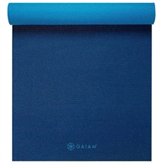 Gaiam Midnight Blues - Premium 2 color 6mm Yoga Mat