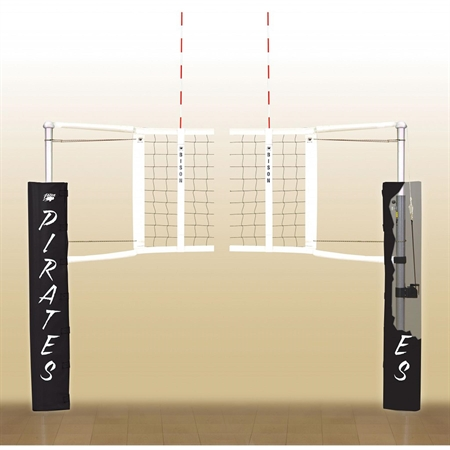 Bison® VB-10 Centerline Elite Aluminum Volleyball Post and Winch - No Padding