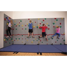 Everlast River Rock® Traverse Wall® - 8' x 40' Wall Climbing Package with Cordless Mat-Locking System®