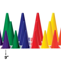 "Medium - Weight 9"" Six - Color Cone Set"