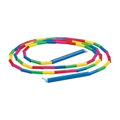 Rainbow Beaded Jump Rope - 7'